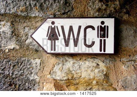 Toilet Sign / Public Restroom