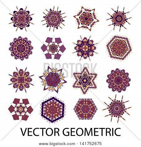 a set of geometric elements, pattern, pattern, vector, ornament, yoga, Arabic,