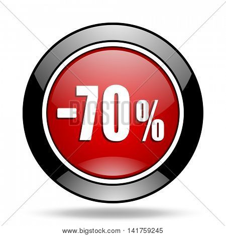 70 percent sale retail icon