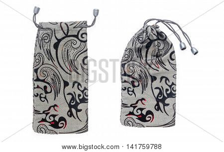 Grey velvet fashion design on white background.