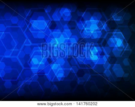 Background with hexagons, Hi-tech digital technology concept abstract background, Vector illustration