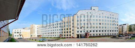 VITEBSK BELARUS - JULY 13 2016: Vitebsk State Order of Peoples' Friendship Medical University and student dormitories number 4 number 5