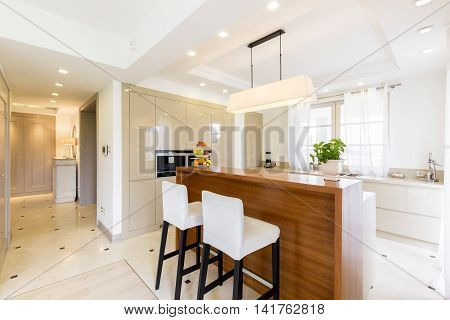 Contemporary Luxurious Kitchen Design In Bright Colours