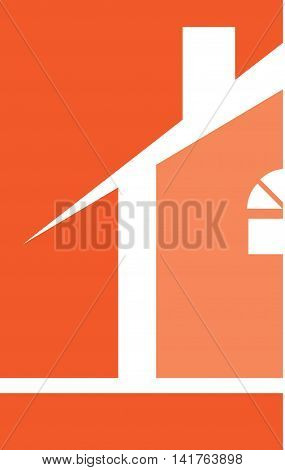 Professional Builder Realtor House Logo Template Orange