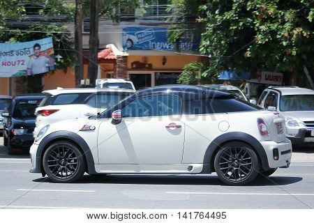 CHIANGMAI THAILAND -JULY 27 2016: Private car Mini cooper. On road no.1001 8 km from Chiangmai Business Area.