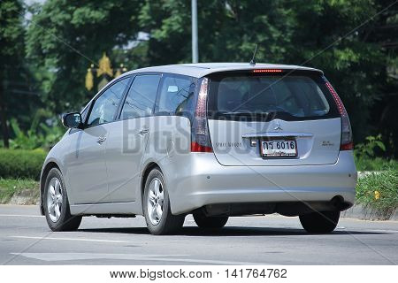 CHIANGMAI THAILAND -JULY 27 2016: Private car Mitsubishi Space Wagon. On road no.1001 8 km from Chiangmai Business Area.