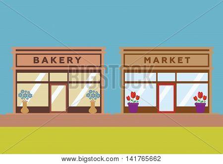 Stores and Shop Facades vector eps 10
