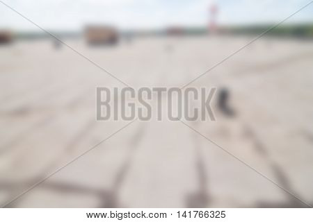 Industrial complex exterior theme creative abstract blur background with bokeh effect