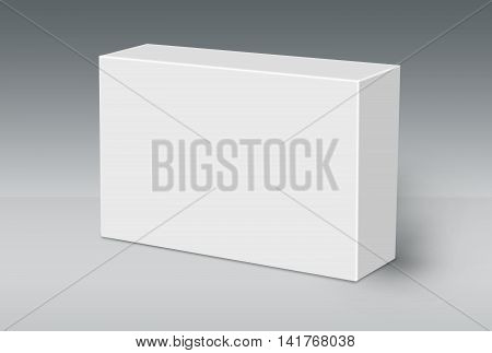 3D White Box on Ground Mock Up Template Ready For Your Design Clipping Path Included.