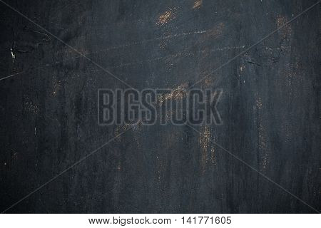 Background of textured metal painted black