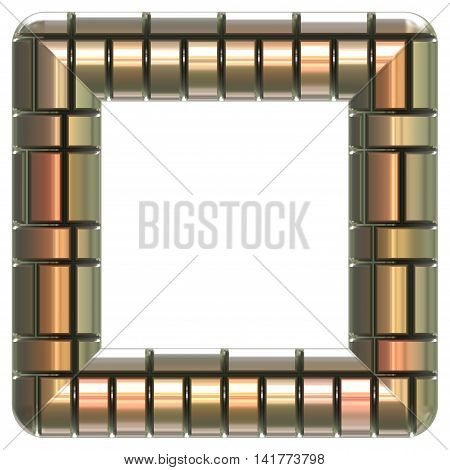 Picture frame generated isolated texture, 3D illustration