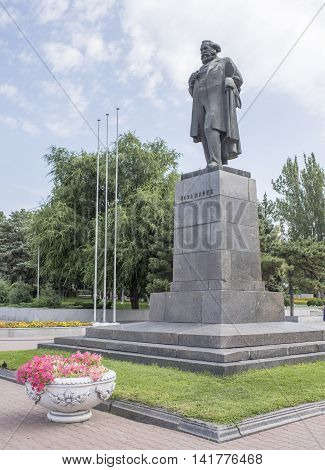 Rostov-on-Don Russia -August 06 2016: Monument to Karl Marx - a monument located on the Karl Marx Square. Established in 1959sculptor M. Altschuler