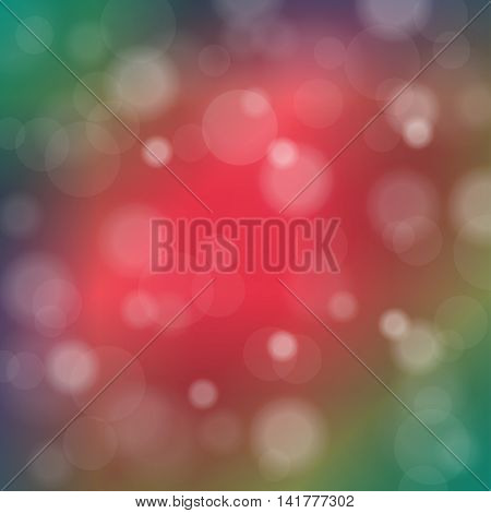 Abstract Blurred Background Of Rainbow Shiny Lights. Vector Illustration