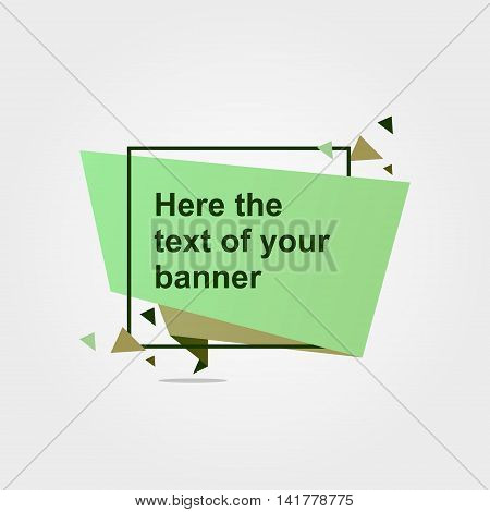 Quote vector abstract geometric origami speech triangle background and a place for communication . The composition enclosed in a square