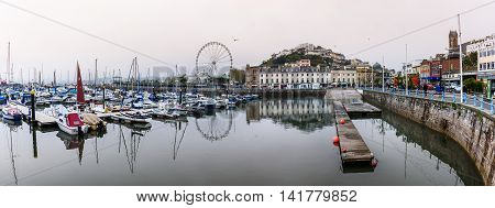 Torquay is a seaside resort town on the English Channel in Devon South West England. Known for beaches.