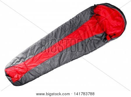 Sleeping bag, isolated on white
