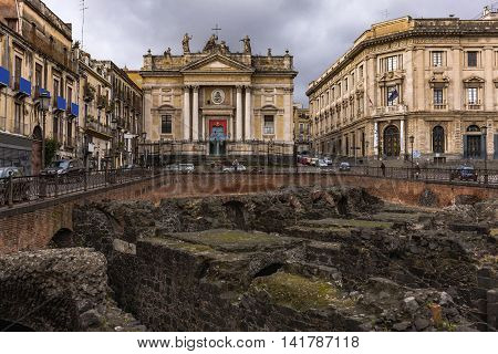 An Old City, Catania, Sicily, Italy