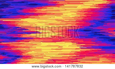 Vector striped background Surface distortion, glitch background