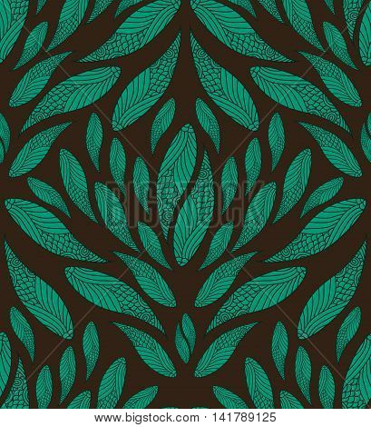 Abstract Seamless Blue And Brown Vintage Pattern