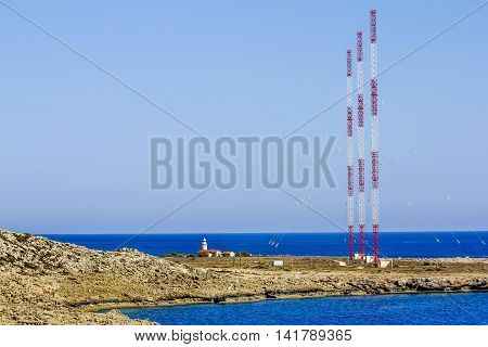25 may 2016.Cape Greco.radio antennas at Cape Greco . Cyprus.