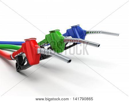 3D Rendering Refueling Nozzle
