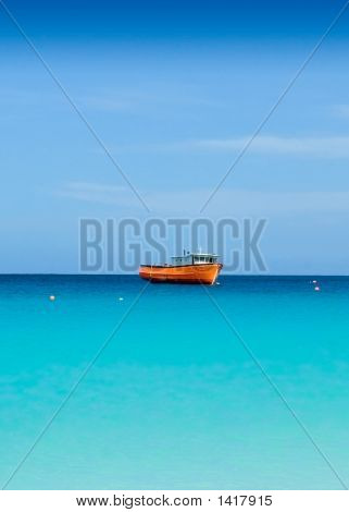 Boat In Carlisle Bay Barbados