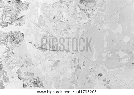 White Concrete Wall With Stucco And Paint