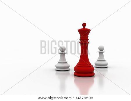 Chess king illustration