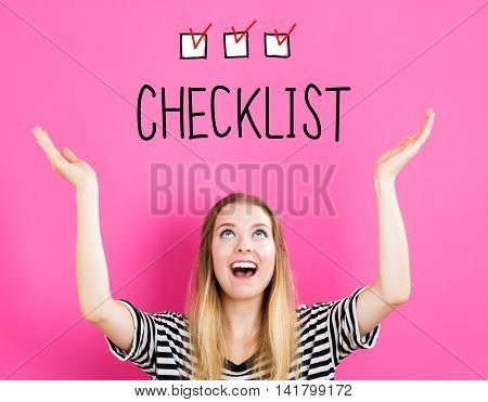 Checklist Concept With Young Woman