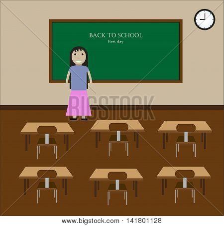 teacher in the class. back to school