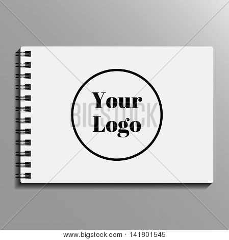 empty blank of spiral notebook. notebook template mockup. Vector illustration