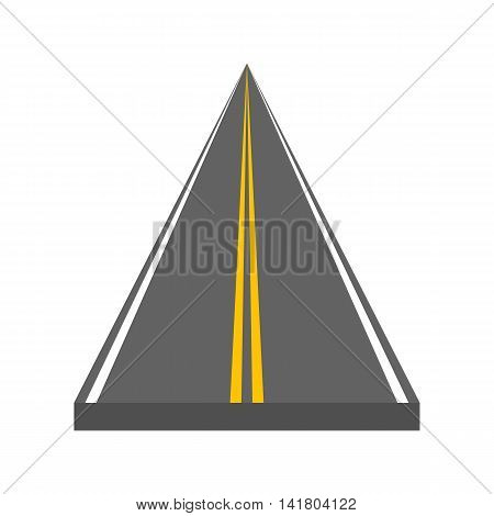 Road vector illustration. Ditrection highway with markings.