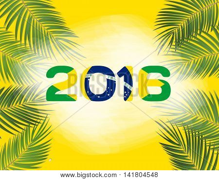 Rio. Brazil 2016. Olympic Summer Games. Abstract Colorful Background. Vector Illustration. EPS10
