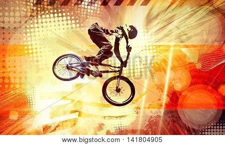 Extreme sport, bmx rider