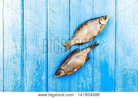 Dried Fish Over Blue