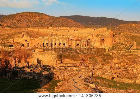 Sunset At Hieropolis, Turkey