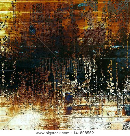Grunge background for a creative vintage style poster. With different color patterns: yellow (beige); brown; blue; red (orange); black; white