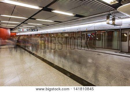 Metro Transportation Of Hong Kong City, Asia