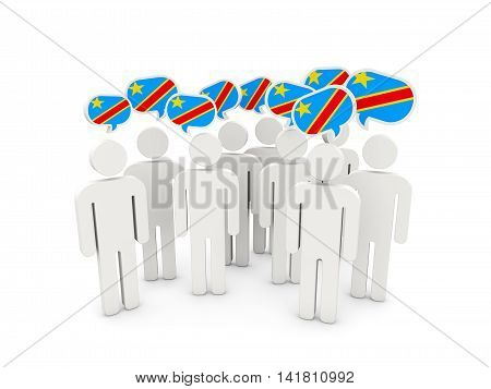 People With Flag Of Democratic Republic Of The Congo