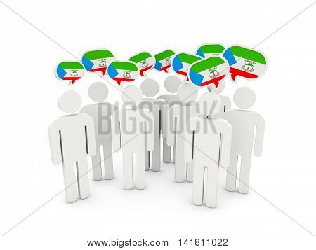 People With Flag Of Equatorial Guinea