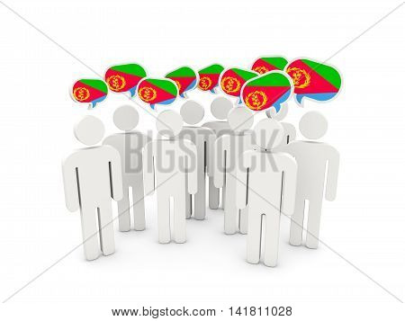 People With Flag Of Eritrea