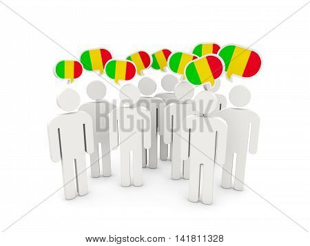 People With Flag Of Mali