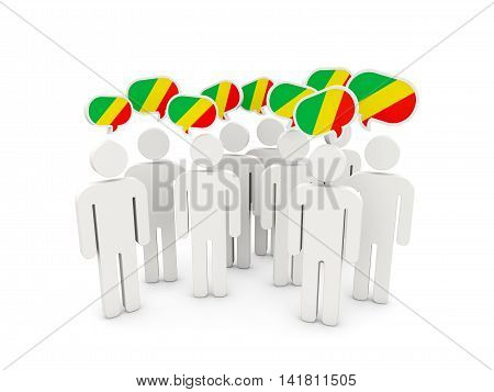People With Flag Of Republic Of The Congo