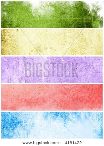 Great banners for textures and backgrounds  - containing different textures