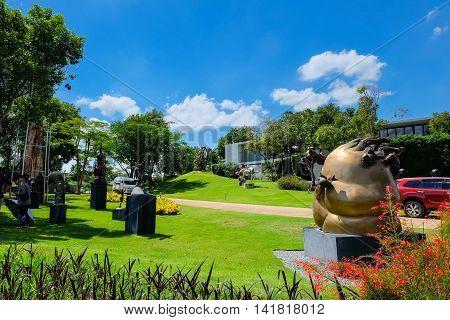 Nakhon Ratchasima Thailand - August 1 2016: Khao Yai Art Museum