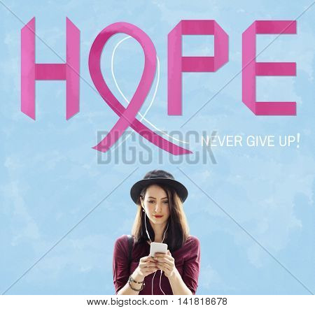 Breast Cancer Believe Hope Woman Illness Concept