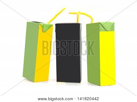 pack of drink isolated over white background