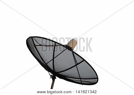 A Satellite dish isolated on white background.