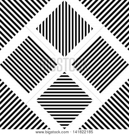 Striped square - horizontal stripes, vertical stripes, diagonal stripes in the square, for print or design