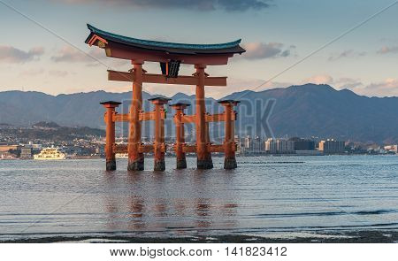 Great Floating Gate (o-torii) On Miyajima Island